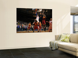 Cleveland Cavaliers  v New York Knicks, New York - March 4: Carmelo Anthony and Samardo Samuels Wall Mural by Lou Capozzola