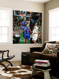 New York Knicks v Boston Celtics - Game One, Boston, MA - April 17: Kevin Garnett and Amar'e Stoude Wall Mural by Unknown Unknown