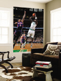 Atlanta Hawks v Boston Celtics: Kevin Garnett and Josh Smith Vgplakat af Steve Babineau