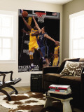 Washington Wizards v Los Angeles Lakers: Kobe Bryant and Yi Jianlian Wall Mural by Jeff Unknown