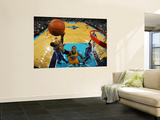Oklahoma City Thunder v New Orleans Hornets: David West and Jeff Green Wall Mural by Chris Unknown