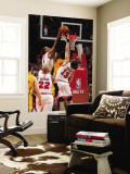 Indiana Pacers v Chicago Bulls - Game Five, Chicago, IL- April 26: Derrick Rose, Roy Hibbert and Jo Wall Mural