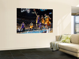 Los Angeles Lakers v New Orleans Hornets - Game Three, New Orleans, LA - APRIL 22: Derek Fisher and Wall Mural by Layne Murdoch