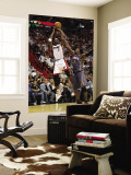 Charlotte Bobcats v Miami Heat: Chris Bosh and Gerald Wallace Wall Mural by Mike Ehrmann