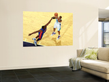 Detroit Pistons v New Orleans Hornets: David West and Jason Maxiell Wall Mural by Chris Unknown