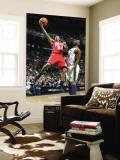 New Jersey Nets v Utah Jazz: Devin Harris and Al Jefferson Wall Mural by Melissa Majchrzak