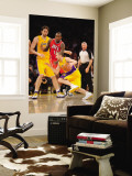 Atlanta Hawks v Los Angeles Lakers, Los Angeles, CA - February 22: Steve Blake and Jamal Crawford Wall Mural by Noah Graham