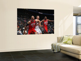 New Jersey Nets v Atlanta Hawks: Brook Lopez and Zaza Pachulia Wall Mural by Scott Cunningham