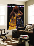 Washington Wizards v Los Angeles Lakers: Kobe Bryant and Javale McGee Wall Mural by  Jeff