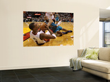 New Orleans Hornets v Miami Heat: Chris Bosh and David West Wall Mural by Mike Unknown