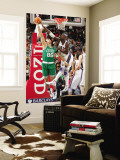 Boston Celtics v New Jersey Nets: Semih Erden and Johan Petro Wall Mural by Jeyhoun Allebaugh