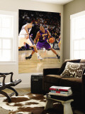 Los Angeles Lakers v New Jersey Nets: Kobe Bryant and Devin Harris Wall Mural by Andrew Bernstein