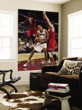 Philadelphia 76ers v Cleveland Cavaliers: Ryan Hollins, Jrue Holiday and Andres Nocioni Wall Mural by David Liam Kyle