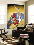 Toronto Raptors v Washington Wizards: Jarrett Jack and JaVale McGee Wall Mural by Ned Dishman