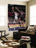 Portland Trail Blazers v New Jersey Nets: Devin Harris and LaMarcus Aldridge Wall Mural by David Dow