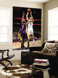 Los Angeles Lakers v New Jersey Nets: Brook Lopez and Lamar Odom Wall Mural by Andrew Bernstein