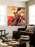 Indiana Pacers v Chicago Bulls - Game Two, Chicago, IL- April 18: Tyler Hansbrough and Joakim Noah Wall Mural