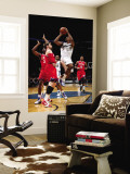 Philadelphia 76ers v Washington Wizards: Nick Young and Andres Nocioni Wall Mural by Ned Dishman