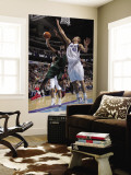 Milwaukee Bucks v Dallas Mavericks: Luc Mbah a Moute and Dirk Nowitzki Wall Mural by Glenn James
