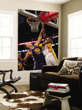 Golden State Warriors v Los Angeles Lakers: Kobe Bryant and Andris Biedrins Wall Mural by Stephen Dunn