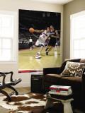Atlanta Hawks v Detroit Pistons: Charlie Villanueva and Zaza Pachulia Wall Mural by Allen Einstein