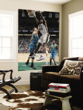 New Orleans Hornets v Utah Jazz: Jeremy Evans and Jason Smith Wall Mural by Melissa Majchrzak