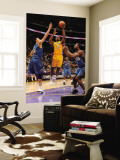 Washington Wizards v Los Angeles Lakers: Ron Artest, Yi Jianlian and Hilton Armstrong Wall Mural by Andrew Bernstein