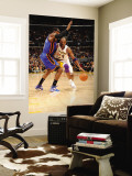 New York Knicks v Los Angeles Lakers, Los Angeles, CA - January 9: Kobe Bryant and Amar'e Stoudemir Wall Mural by Andrew Bernstein