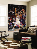 Atlanta Hawks v New Jersey Nets: Josh Powell and Derrick Favors Wall Mural by David Dow