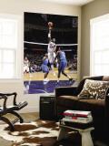 Washington Wizards v New Jersey Nets: Johan Petro and Al Thornton Wall Mural by David Dow