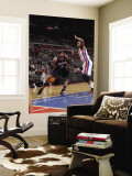 Atlanta Hawks v Detroit Pistons: Josh Smith and Greg Monroe Wall Mural by Allen Einstein