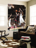 Miami Heat v Utah Jazz: Dwyane Wade and Francisco Elson Wall Mural by Melissa Majchrzak