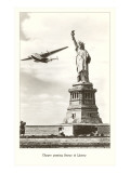 Statue of Liberty with Clipper, New York City Poster