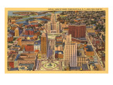 Aerial View of Downtown Buffalo, New York Print