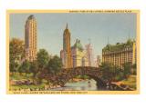 Savoy Plaza, Hotels, Central Park, New York City Kunstdruck