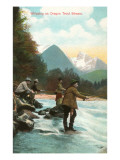 Trout Fishing, Oregon Poster