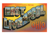 Greetings from East Liverpool, Ohio Posters