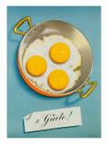 Three Fried Eggs, Guete Affiches