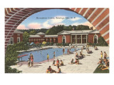 Swimming Pool, Saratoga Springs, New York Prints