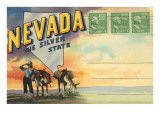 Postcard Folder, Nevada, the Silver State Poster