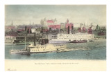 Hudson River at Albany, New York Prints