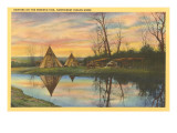 Sunrise on the Reservation, Tepees Poster