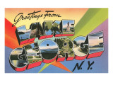 Greetings from Lake George, New York Poster