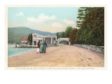 Shore and Casino, Lake George, New York Prints