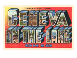 Greetings from Geneva on the Lake, Ohio Print