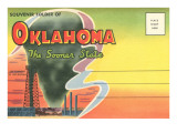 Postcard Folder, Souvenir of Oklahoma Posters