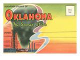 Postcard Folder, Souvenir of Oklahoma Prints