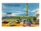 Round-Up Drive-In Restaurant, Las Vegas, Nevada Print