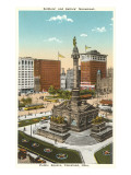 Soldiers and Sailors Monument, Cleveland, Ohio Posters