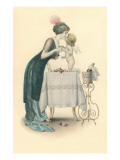 Champagne Toast with Cupid Prints